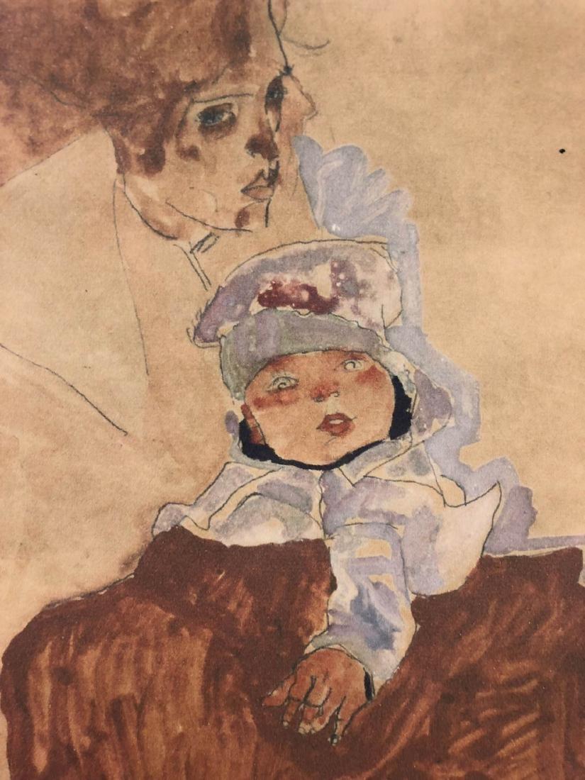 Egon Schiele (Austrian, 1890-1918) -- Hand Signed Fine - 4
