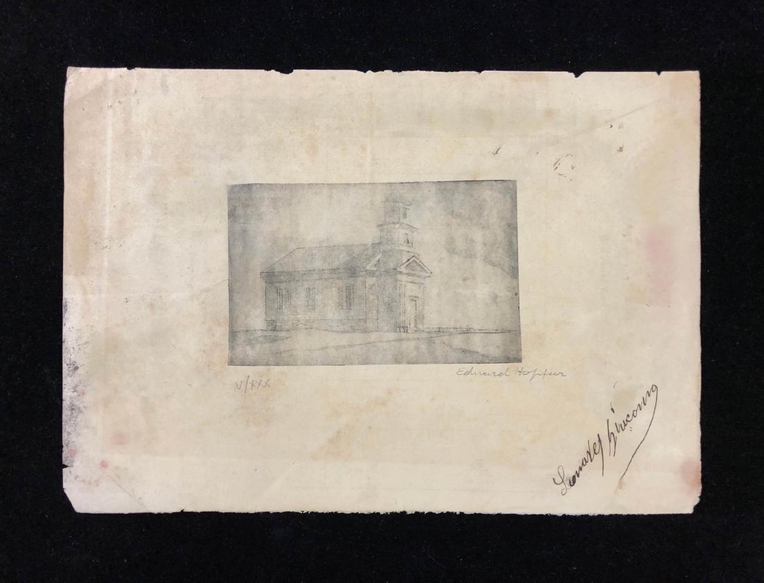 Edward Hopper (American, 1882 - 1967) -- Hand Signed