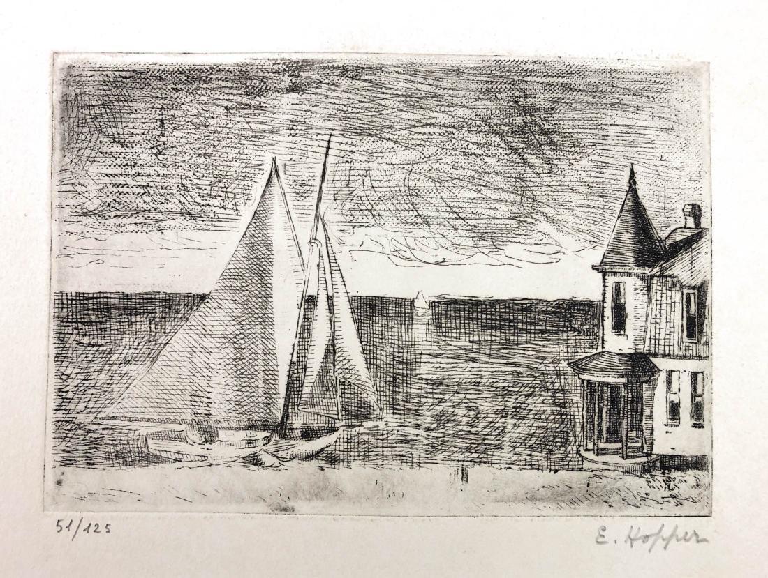 Edward Hopper (American, 1882-1967) -- Hand Signed Fine - 2