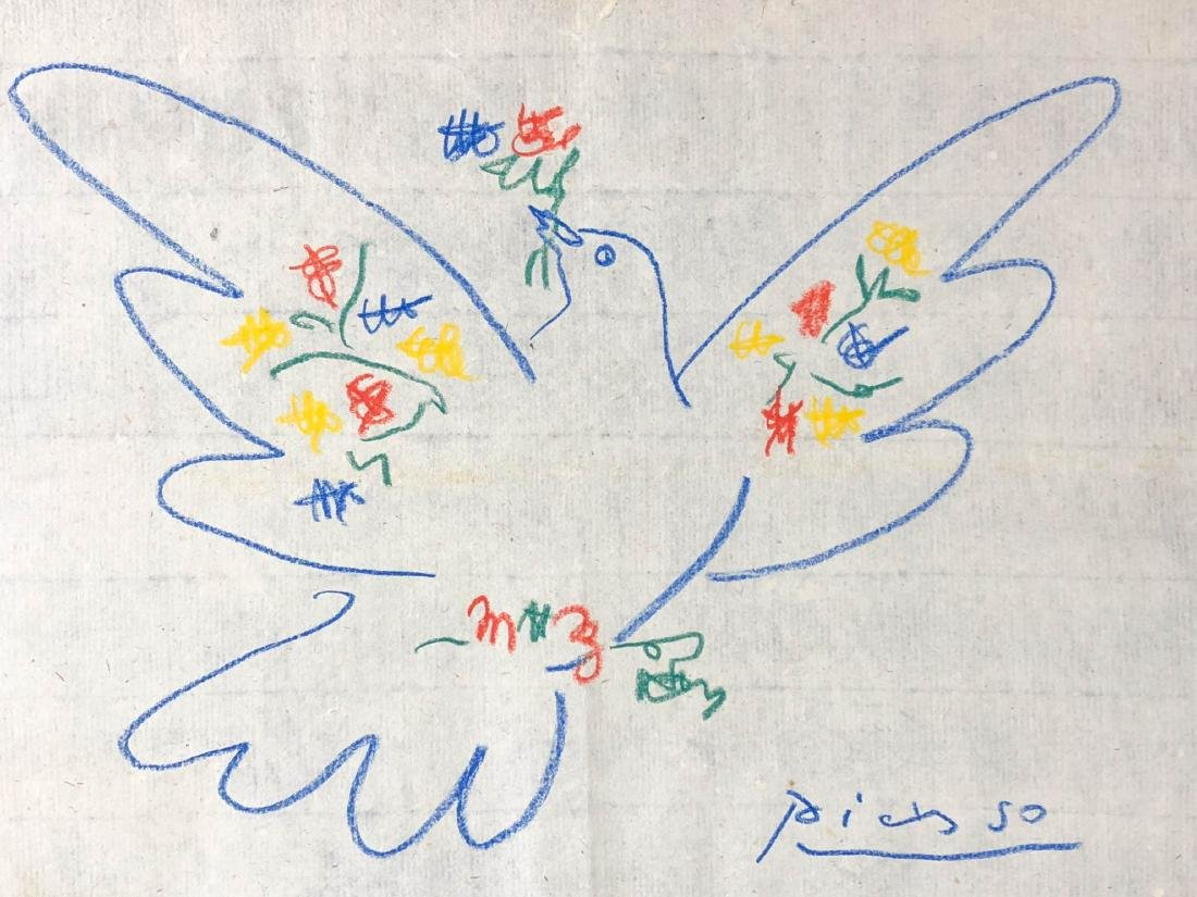 Pablo Picasso (Spanish, 1881-1973) -- Hand Drawn and - 2