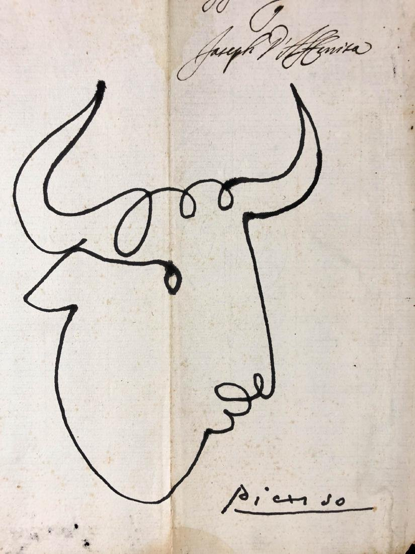 Pablo Picasso (Spanisih, 1881-1973) -- Hand-Drawn Ink - 2