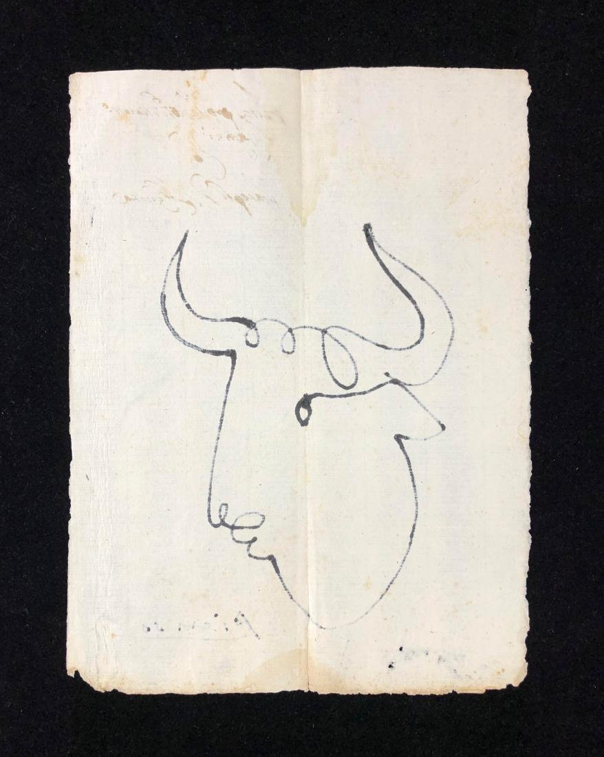 Pablo Picasso (Spanisih, 1881-1973) -- Hand-Drawn Ink - 4