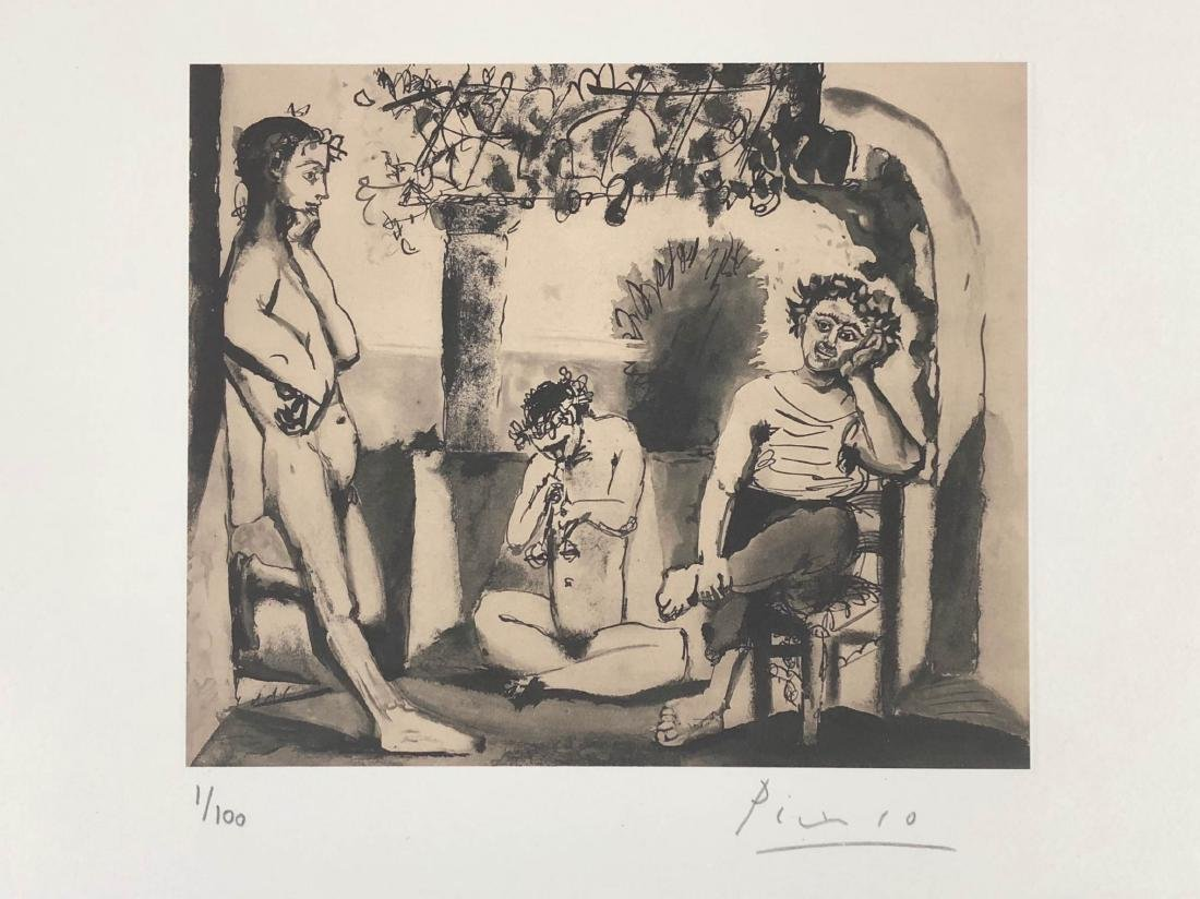 Pablo Picasso (Spanish, 1881-1973) -- Hand Signed Fine - 2