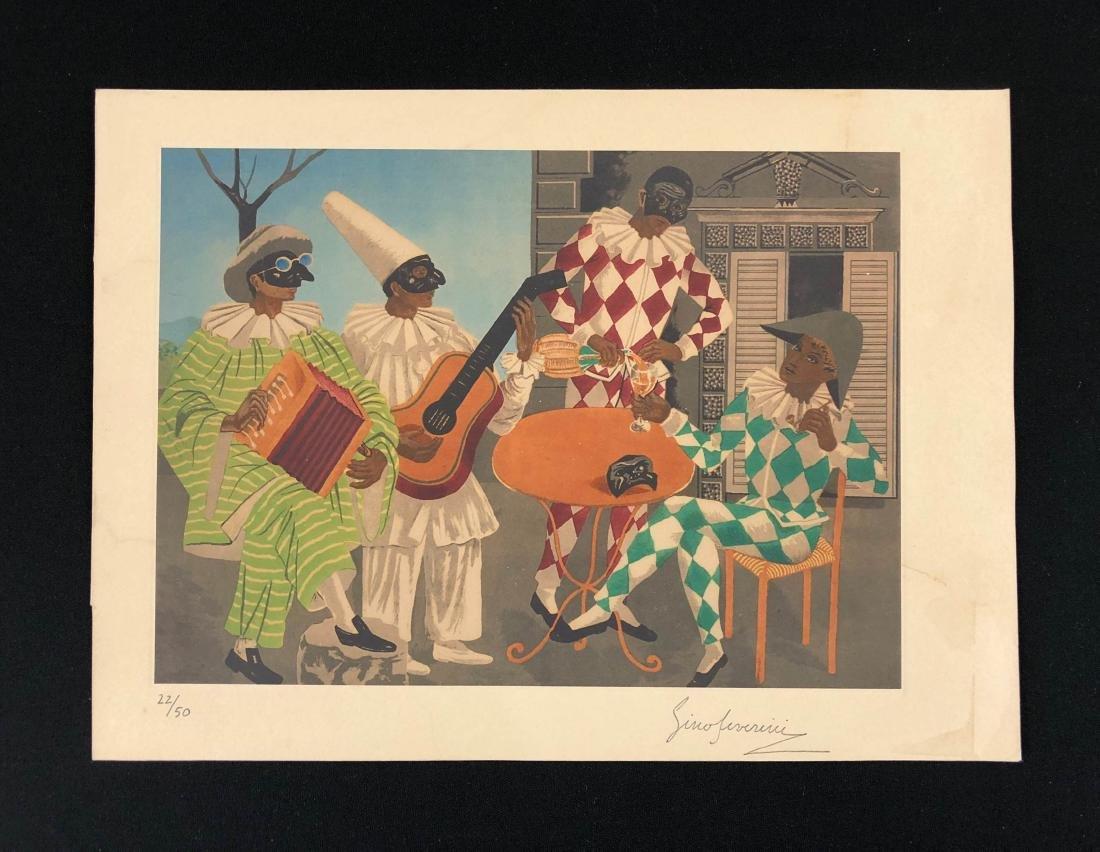 Gino Severini (Italian, 1883-1966) -- Hand Signed and