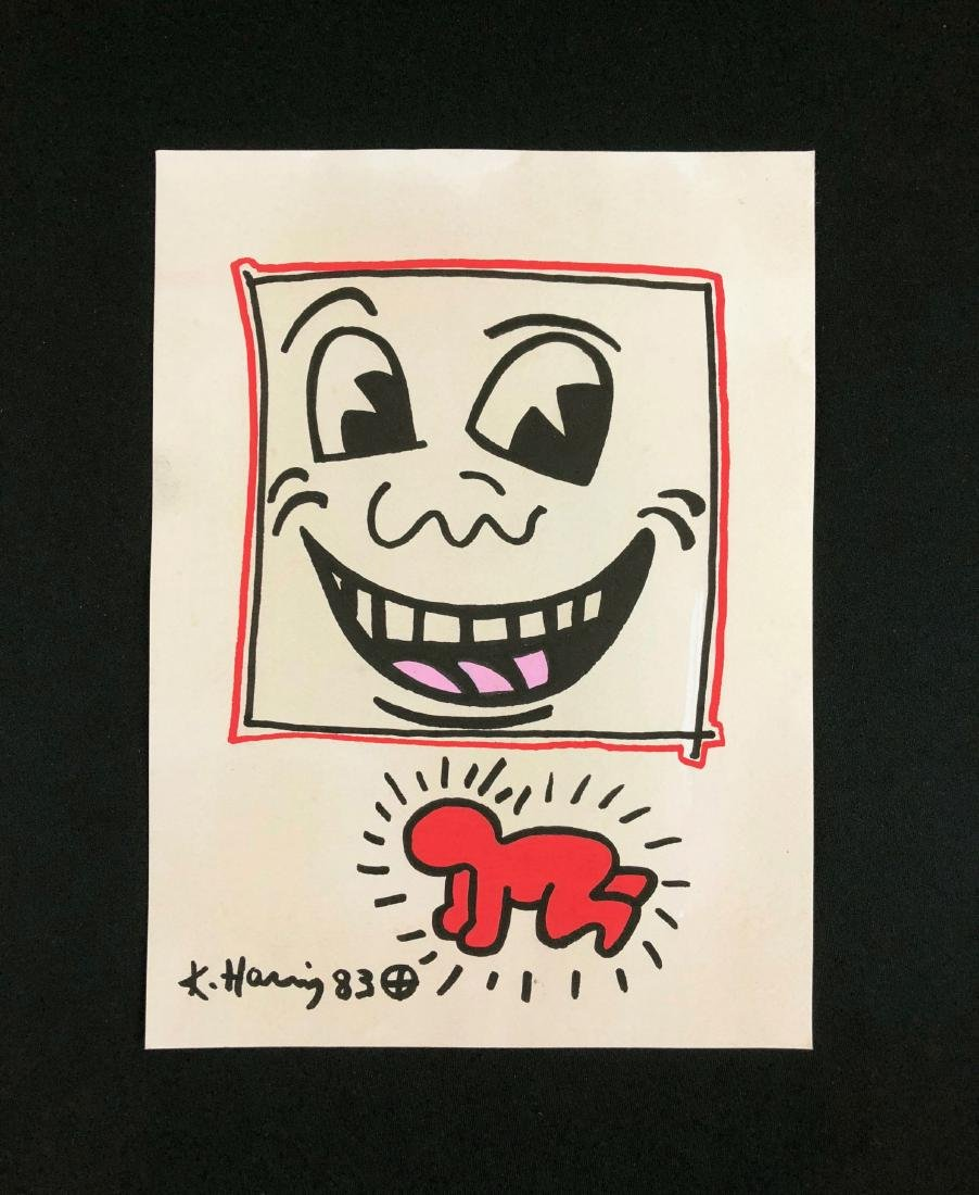 Keith Haring (American, 1958-1990) -- Hand Drawn Ink on