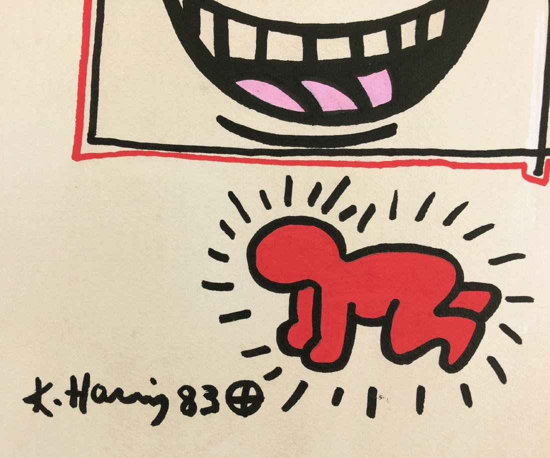 Keith Haring (American, 1958-1990) -- Hand Drawn Ink on - 3