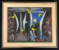 Paul Klee Swiss 1879 1940  Serigraph on Board