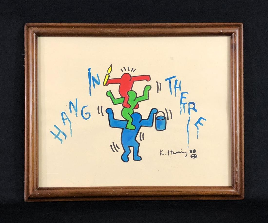 Keith Haring (American, 1958 -1990) -- Hand Painted