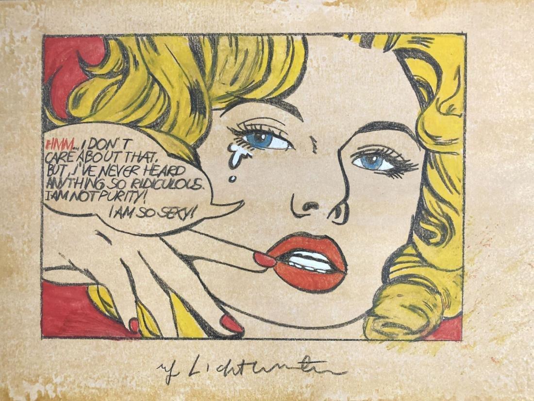 Roy Lichtenstein (American, 1923 -1997) -- Hand Drawn - 2
