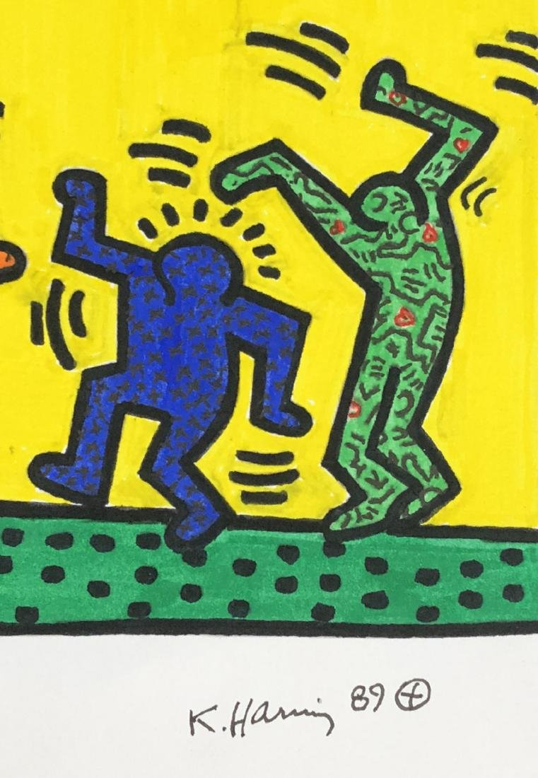 Keith Haring (American, 1958 -1990) -- Hand Painted - 3