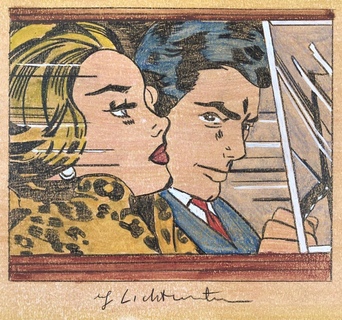Roy Lichtenstein (American, 1923 -1997) -- Hand Painted - 2