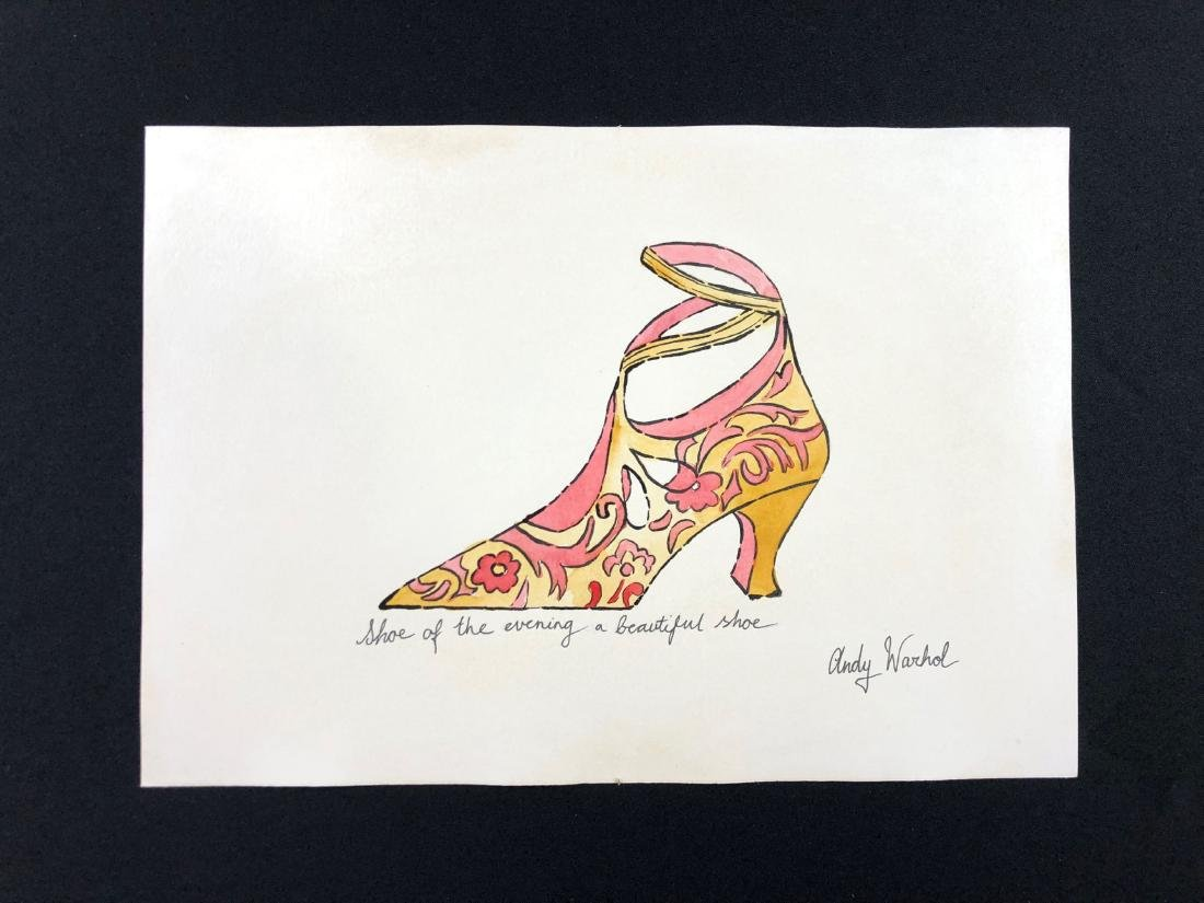 Andy Warhol (American, 1928-1987) -- Hand Painted Mixed