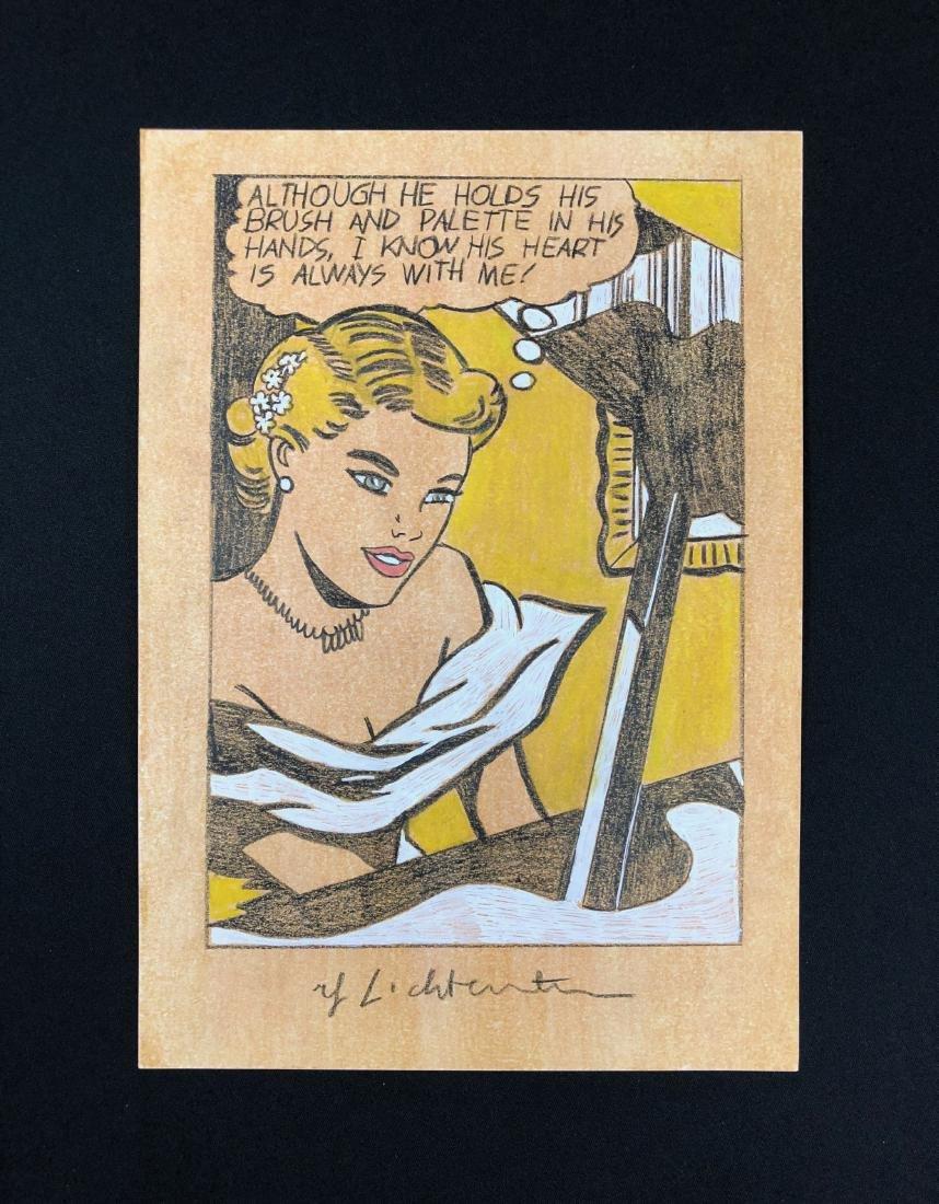 Roy Lichtenstein (American, 1923 -1997) -- Hand Painted