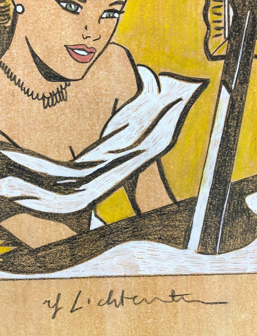 Roy Lichtenstein (American, 1923 -1997) -- Hand Painted - 3