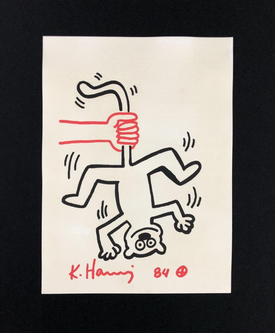 Keith Haring (American, 1958 -1990) -- Hand Drawn Ink