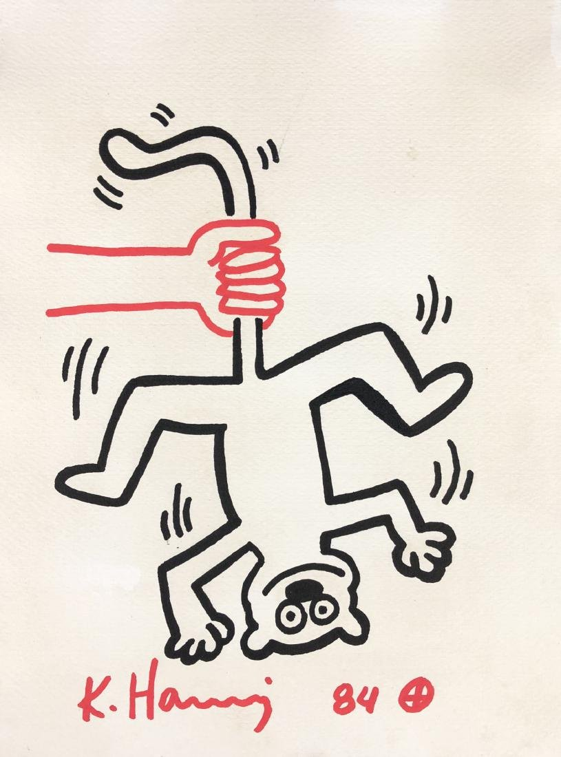 Keith Haring (American, 1958 -1990) -- Hand Drawn Ink - 2