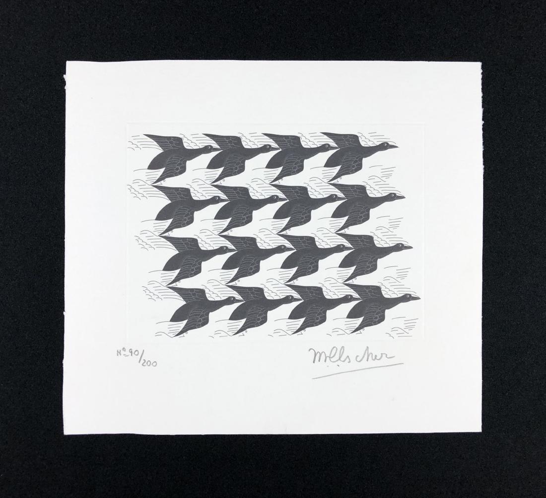 M.C. Escher (Dutch, 1898 -1972) -- Hand Signed Op Art