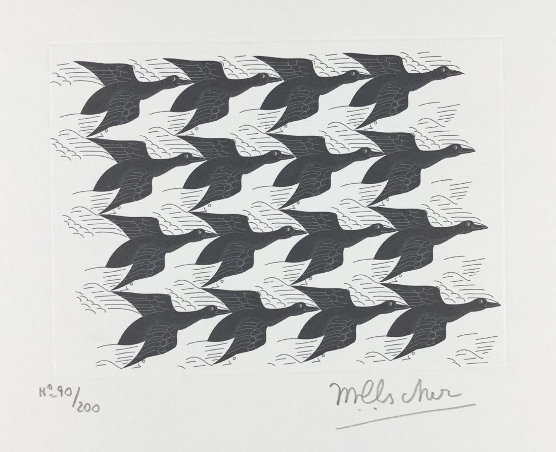 M.C. Escher (Dutch, 1898 -1972) -- Hand Signed Op Art - 2