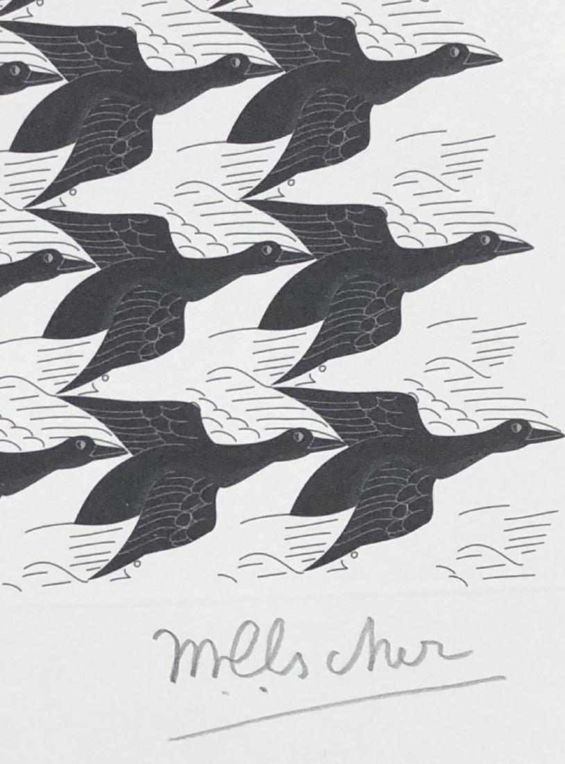 M.C. Escher (Dutch, 1898 -1972) -- Hand Signed Op Art - 3
