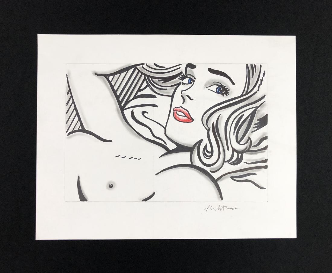 Roy Lichtenstein (American, 1923 - 1997) -- Hand Drawn