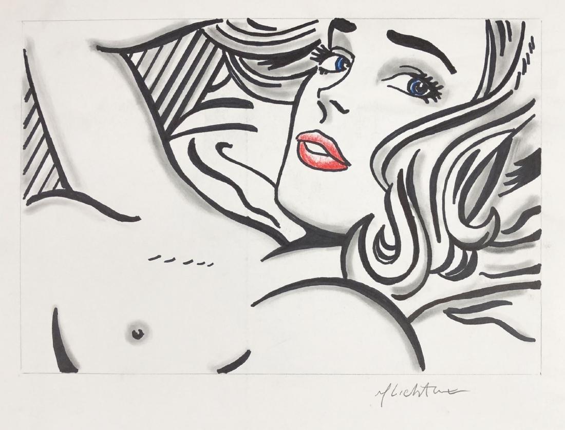 Roy Lichtenstein (American, 1923 - 1997) -- Hand Drawn - 2