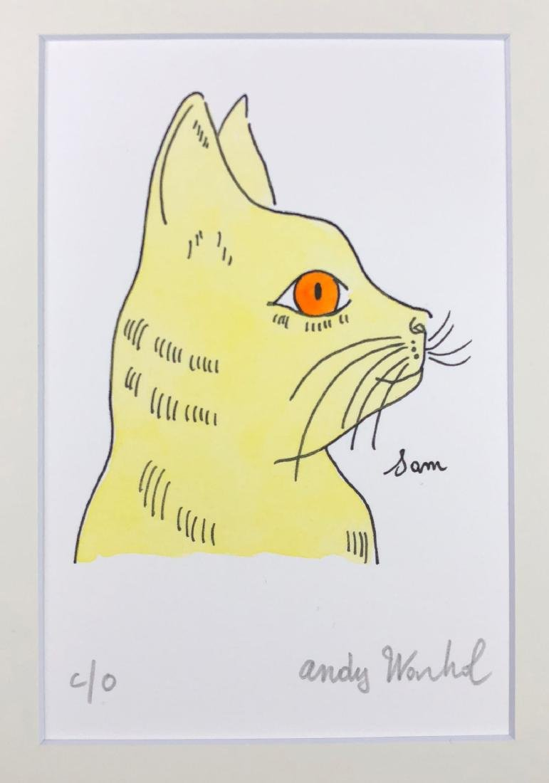 Andy Warhol (American, 1928 -1987) -- Hand Painted