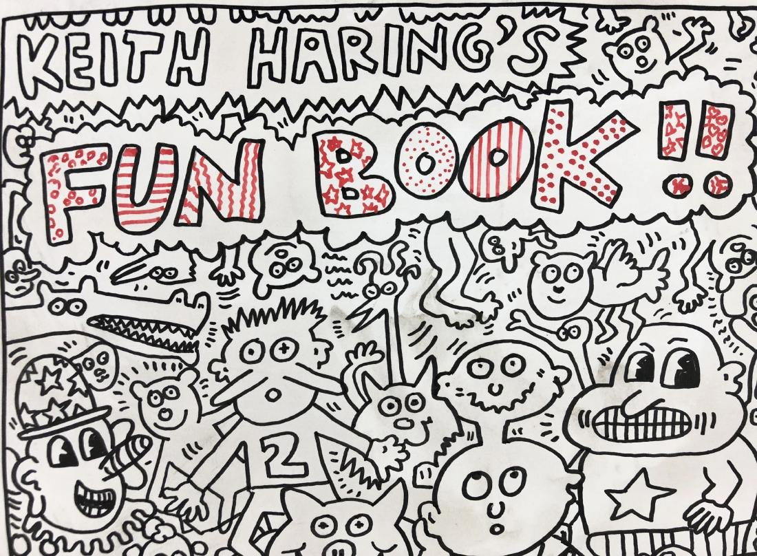 Keith Haring (American, 1958 -1990) -- Hand Painted Ink - 3