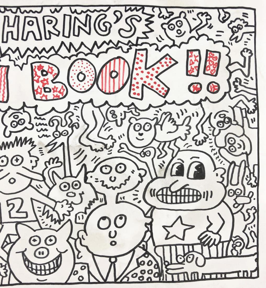 Keith Haring (American, 1958 -1990) -- Hand Painted Ink - 4