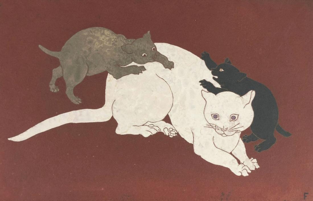 Leonard Tsuguharu Foujita (Japanese, 1886 -1968) -- - 2