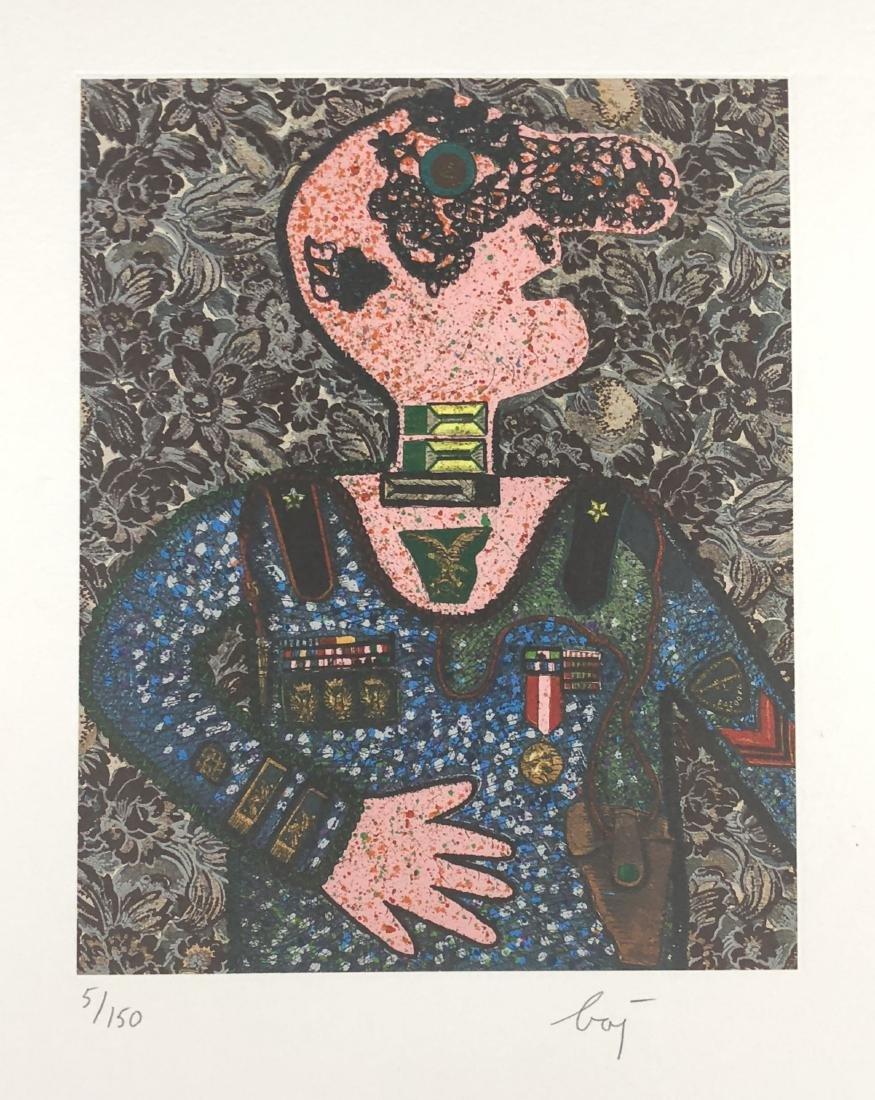 Enrico Baj (Italian, 1924 - 2003) -- Hand Signed Fine - 2