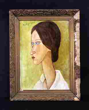 Amedeo Modigliani (Italian, 1884-1920) -- Hand Painted