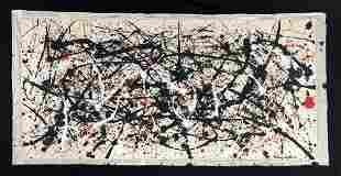 Jackson Pollock (American, 1912-1956) -- Hand Painted