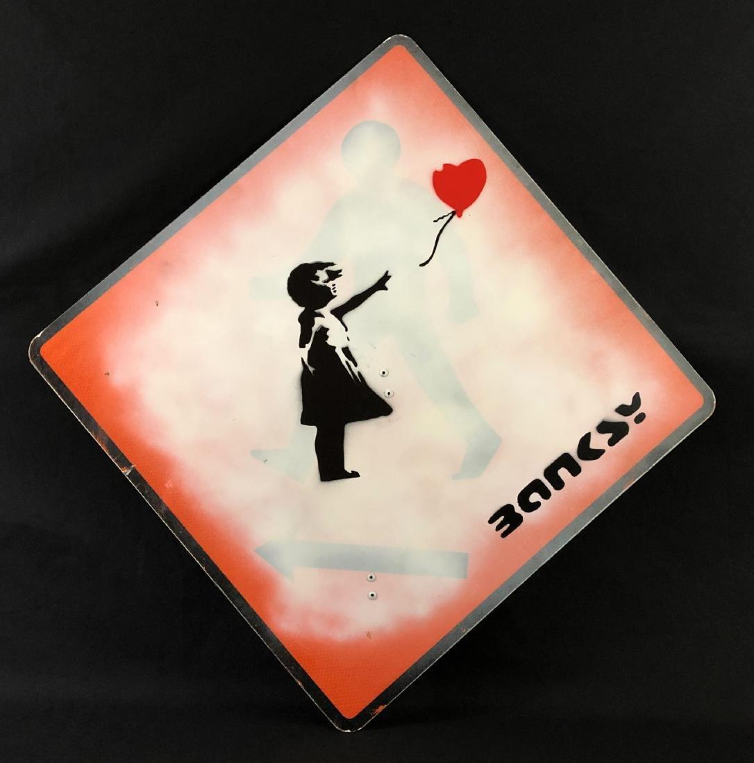 Banksy (British,1974-) -- Hand Stenciled Aerosol