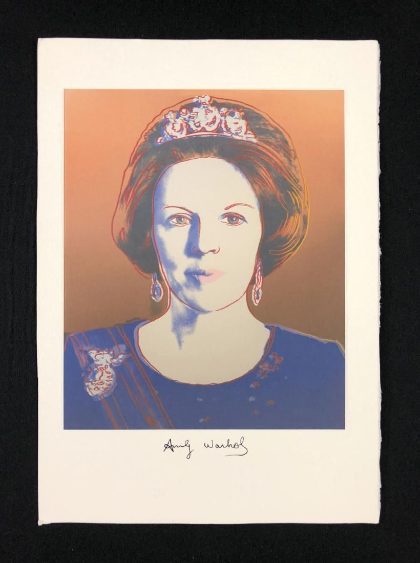 Andy Warhol (American, 1923-1987) -- Hand Signed Mixed