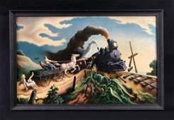 Thomas Hart Benton (American, 1889-1975) -- Framed Fine