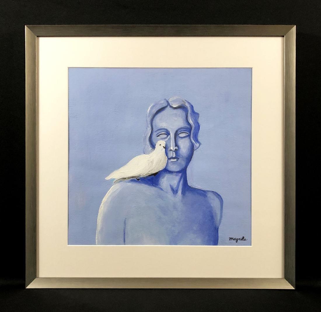 Rene Magritte (Belgian, 1898-1967) -- Gouache Painting