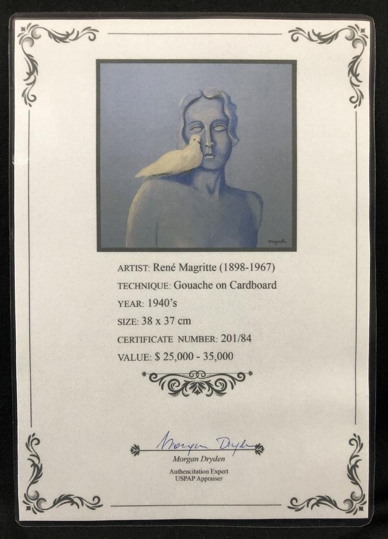 Rene Magritte (1898 - 1967) Painting w/ COA - style of - 4