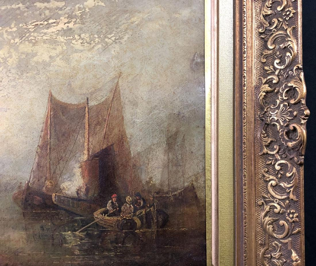 J.M.W. Turner (1775 - 1851) Old Oil Painting - style of - 4