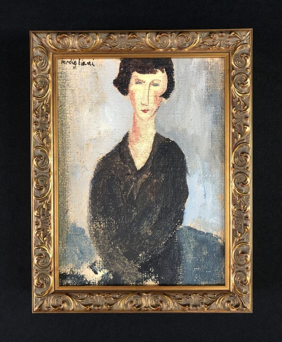 Amedeo Modigliani (1884-1920) Painting w/ COA- style of