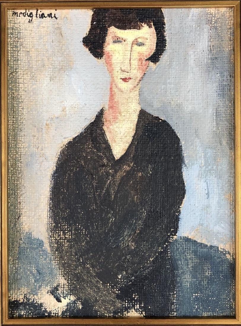 Amedeo Modigliani (1884-1920) Painting w/ COA- style of - 2