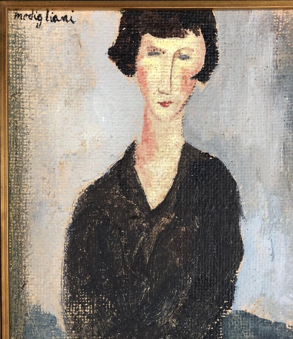 Amedeo Modigliani (1884-1920) Painting w/ COA- style of - 4