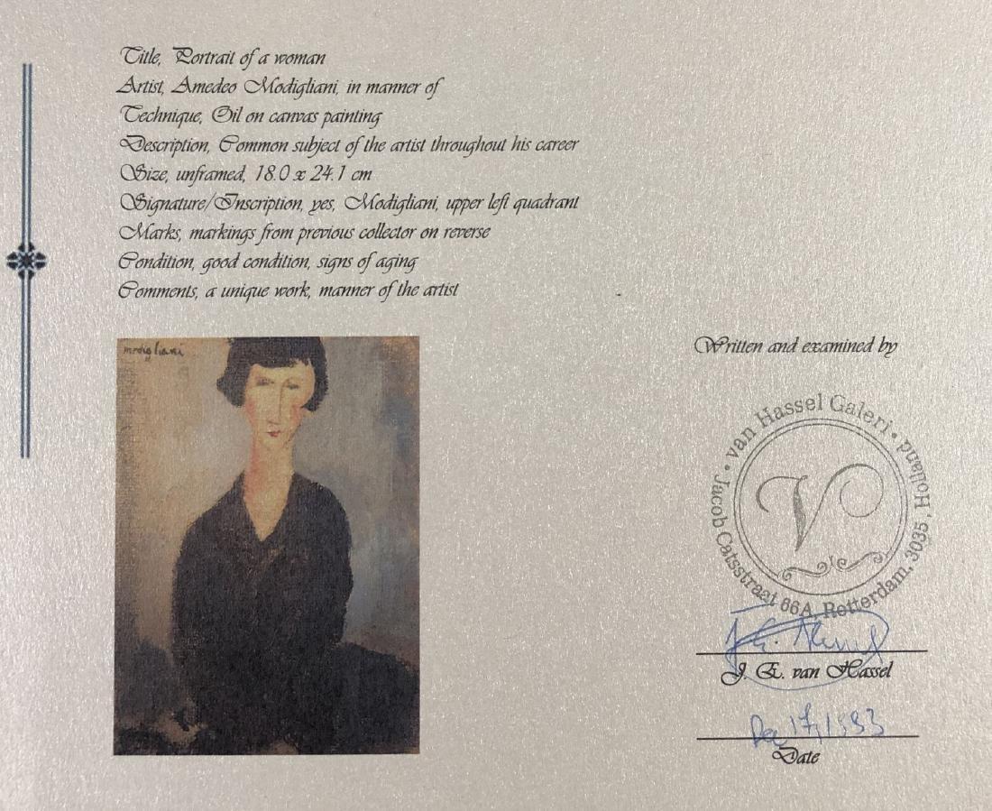 Amedeo Modigliani (1884-1920) Painting w/ COA- style of - 8