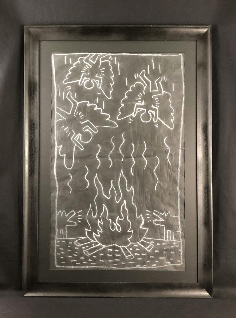 Keith Haring (1958 - 1990) -- Subway Drawing - style of
