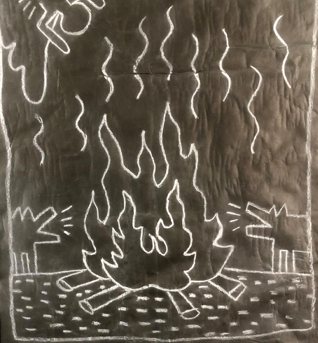 Keith Haring (1958 - 1990) -- Subway Drawing - style of - 3