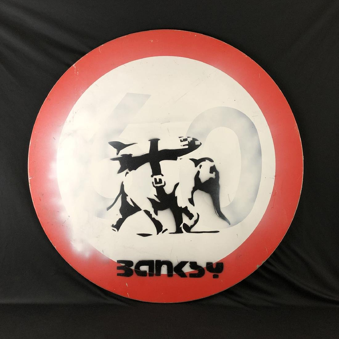 Banksy (British, 1974- ) - Graffiti Painting - style of