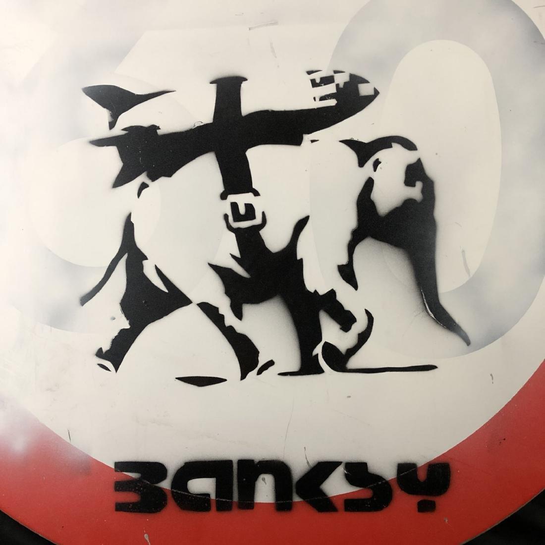 Banksy (British, 1974- ) - Graffiti Painting - style of - 2