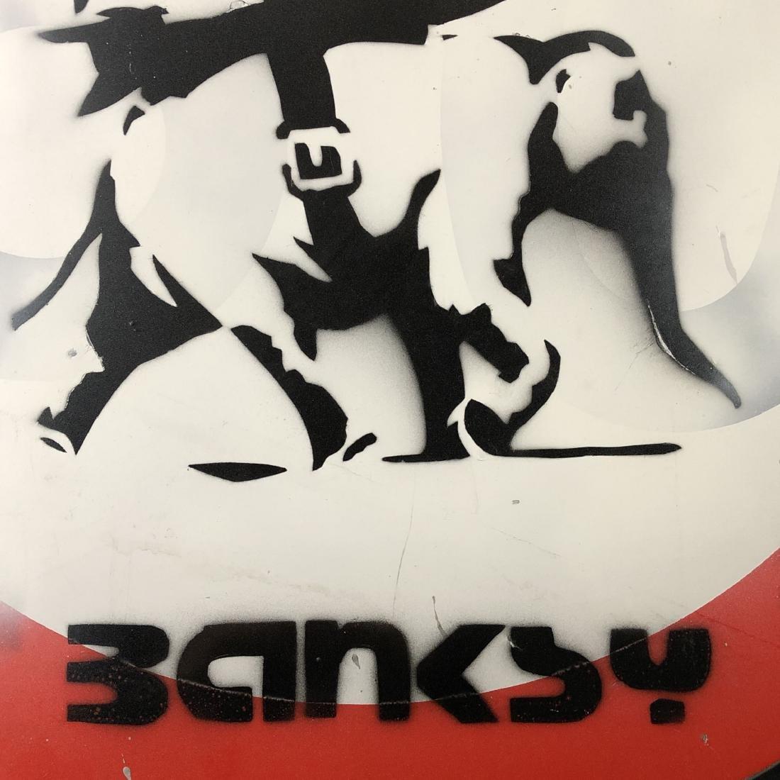 Banksy (British, 1974- ) - Graffiti Painting - style of - 3