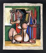 Pablo Picasso (1881-1973) - Oil Painting on Canvas