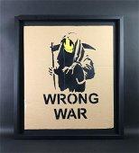 Banksy (British, 1974 - ) -- Hand Stenciled Aerosol