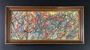 Jackson Pollock (1912 -1956) -- Acrylic Painting